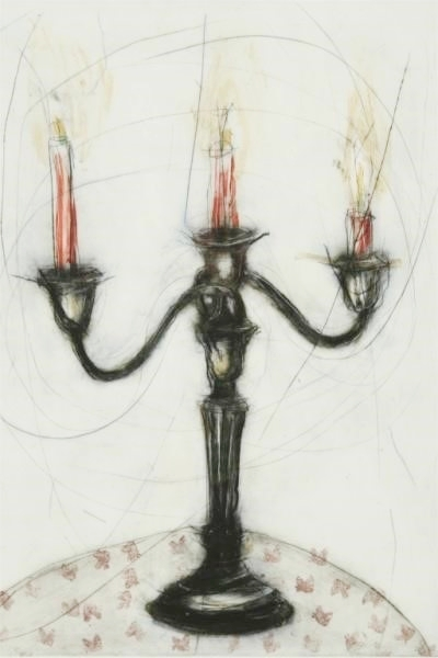 Paula Schutte - Candelabra on the Table