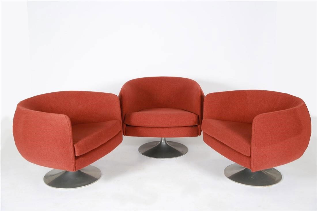 Mid Century Modern Pedestal Swivel Chairs