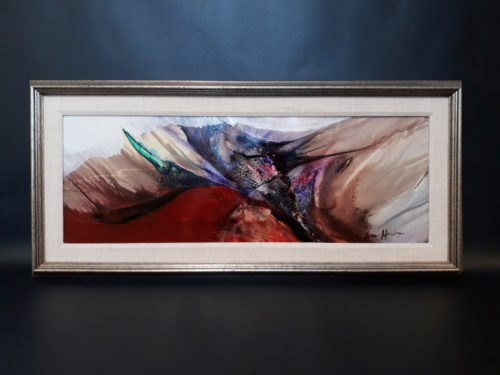 Nora Mendoza -Framed abstract.