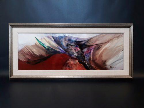 Nora Mendoza -Framed abstract.