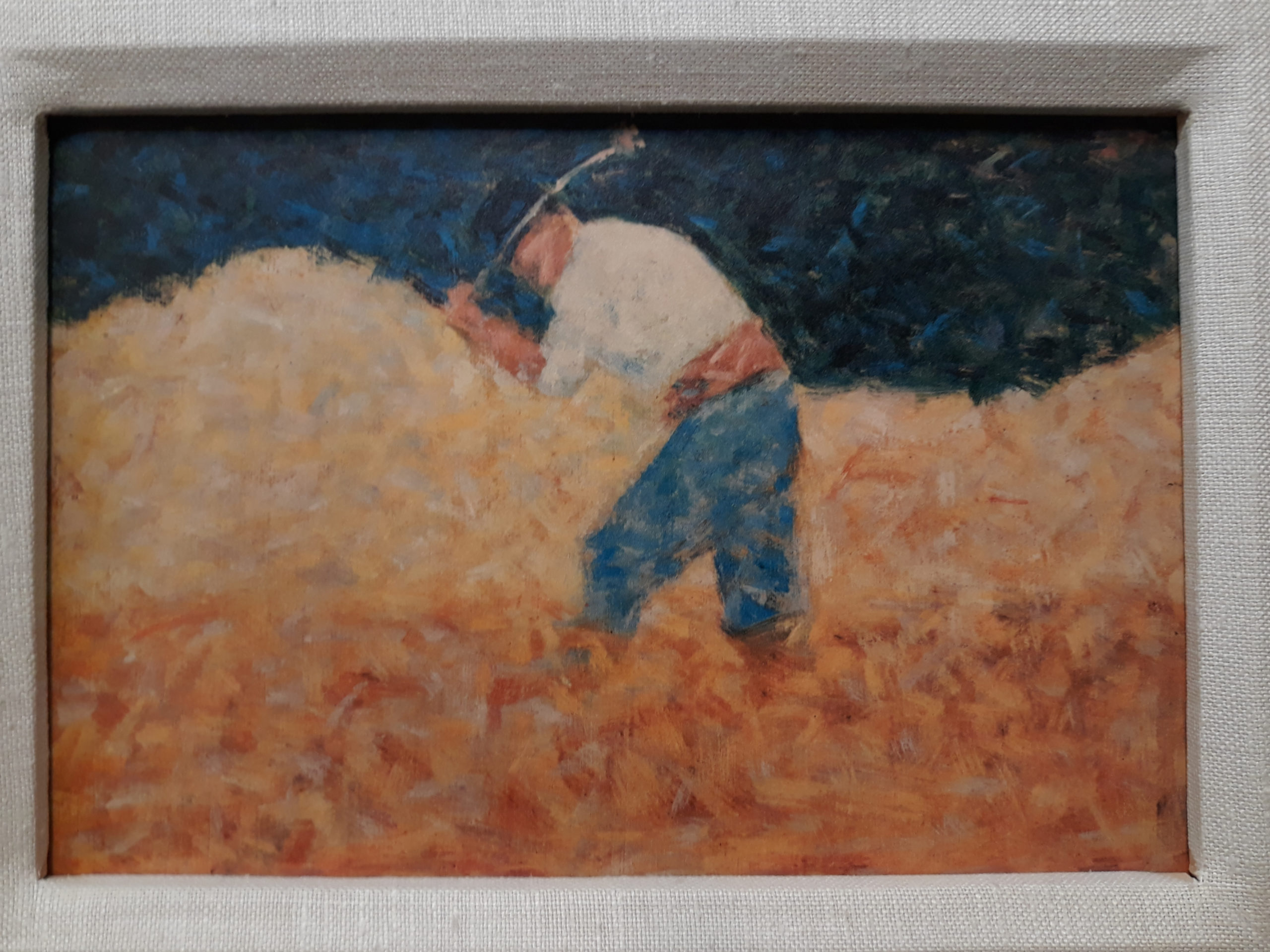 "Georges Seurat, ""The Stone Breaker"" reproduction"