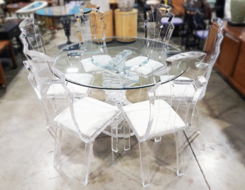 "Acrylic & Glass ""Tiffany"" Dining Set"