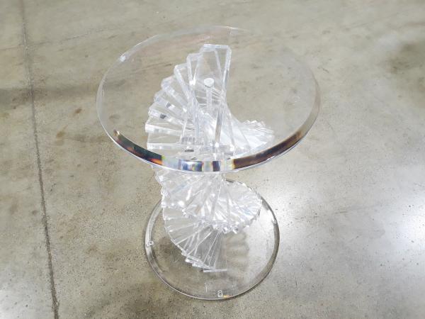 "Acrylic & Glass ""Tiffany"" Dining Set"