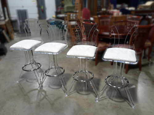 "Set of four acrylic ""Tiffany"" Bar Stools"