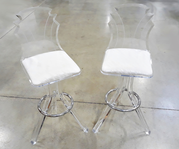 "Set of four acrylic ""Tiffany"" Bar Stools"