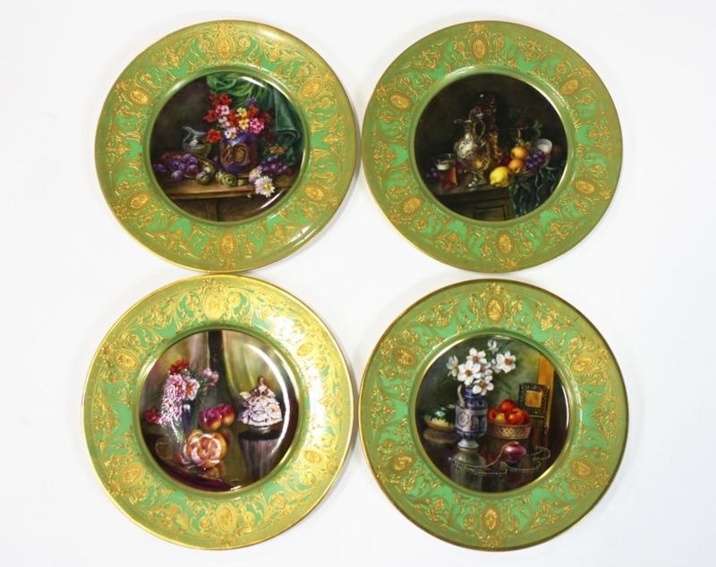 W.J. Bagnall, Royal Worcester, Gilt Plates