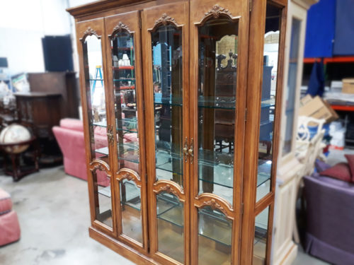 Custom Wood and Glass Display Cabinet