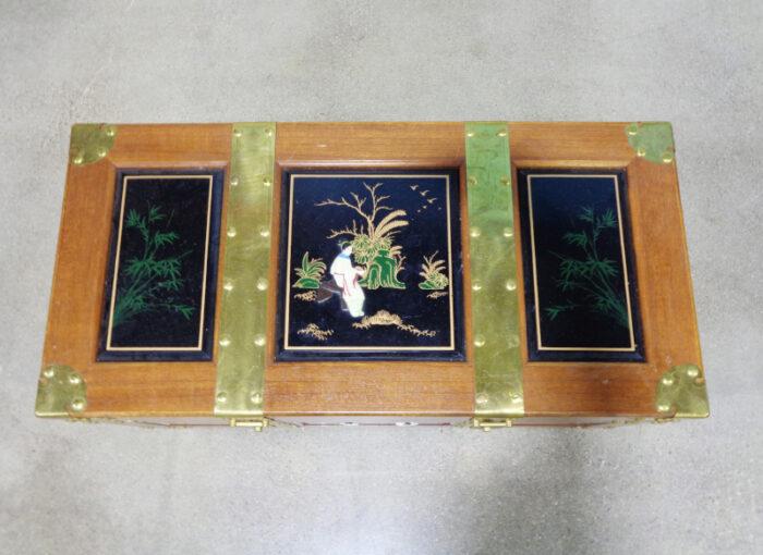 Thomasville - Asian style brass bound storage chest