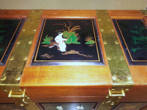 Thomasville - Asian style brass bound storage chest