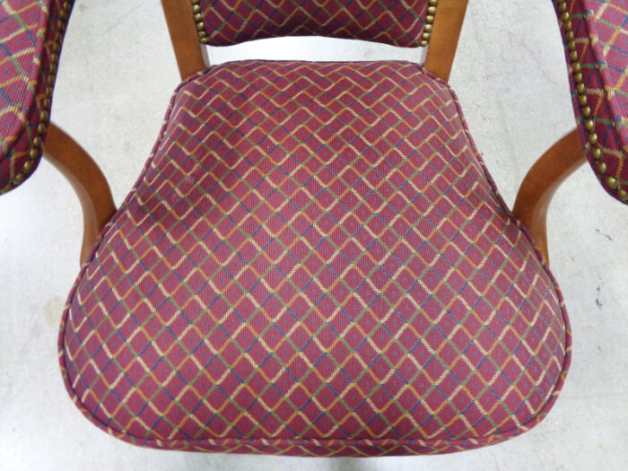 Set of Four Red Game Table Chairs