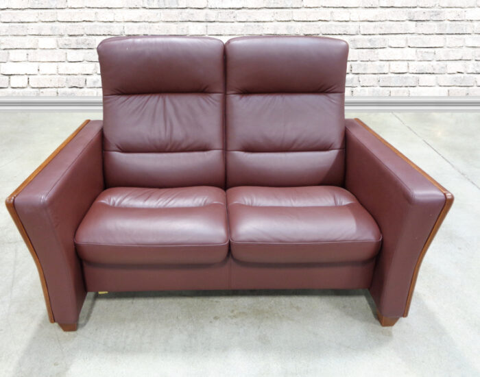 Stressless - Leather Reclining Lounger with Ottoman