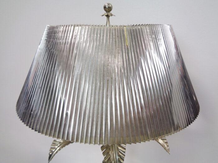 Metal and Glass Palm Tree Lamp