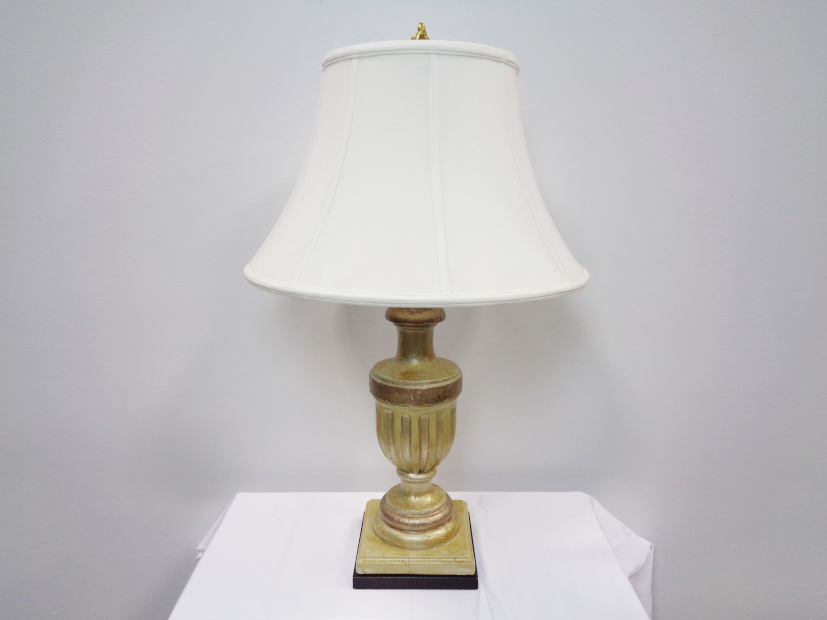 Gold Lamp w/ Cream Shade