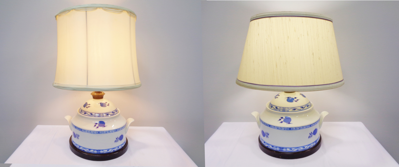 Pair of Onion Pattern Lamps
