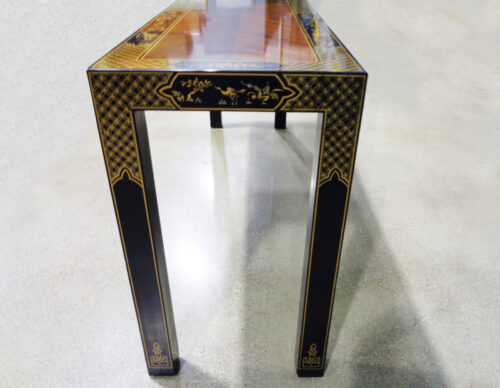 Drexel Heritage - Asian style wood sofa table