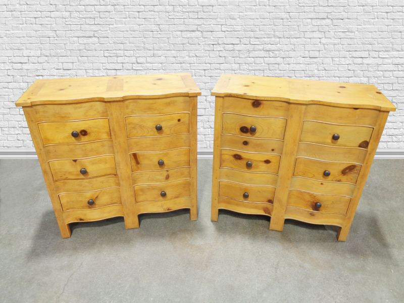 Pair of Pine Four Drawer Chests by Milling Road