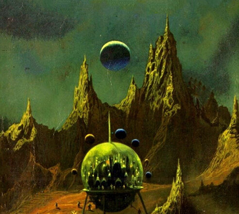 Paul Lehr art for Pebble in the Sky by Isaac Asimov