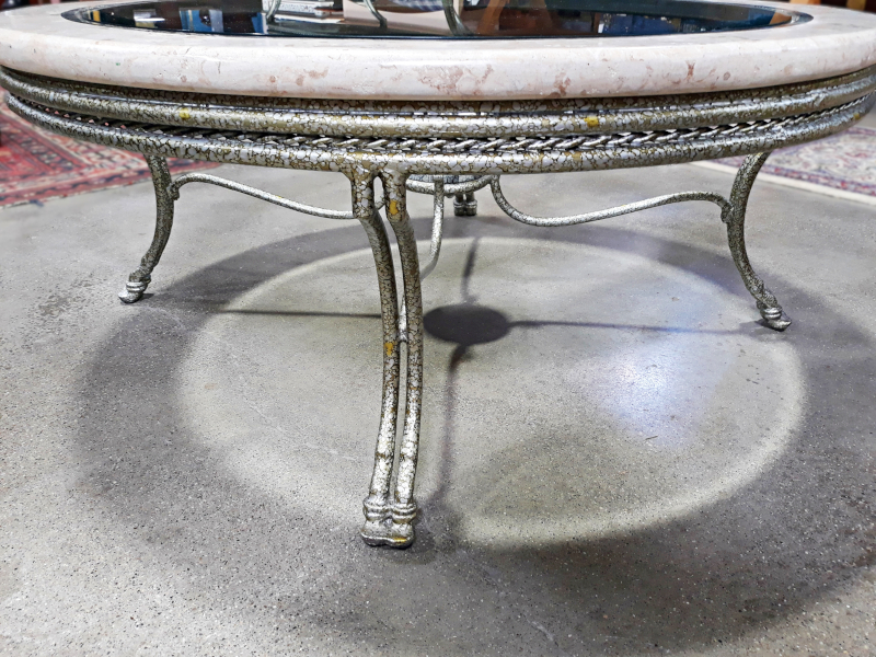 Stone and Glass Cocktail Table