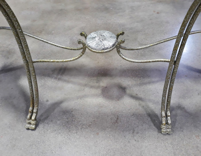 Stone and Glass Sofa Table