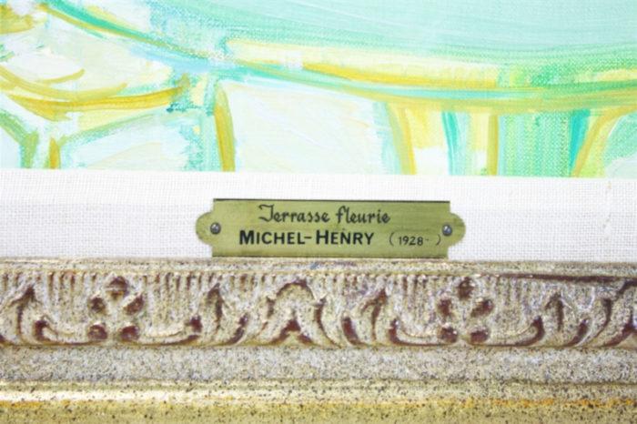Michel-Henry - Terrasse Fleurie