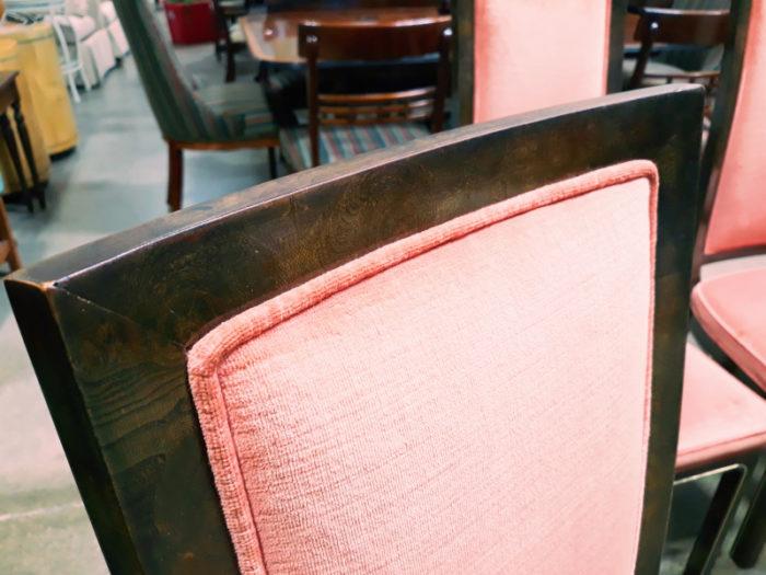Burled Walnut Dining Chairs