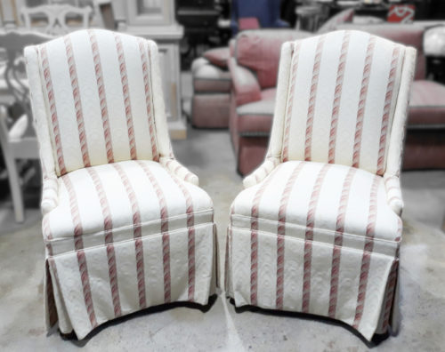 White Armless Chairs