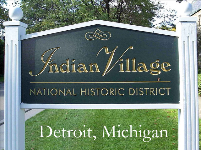 Estate sale located in the historic Indian Village of Detroit, Michigan